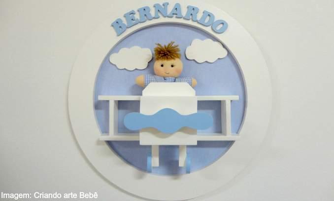 quadro para porta do quarto da maternidade