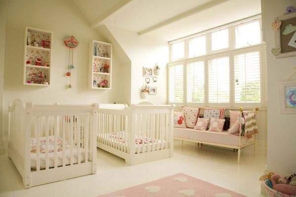 Quartos para bebês Gêmeos 25 Ideias com fotos! ~ Quarto Casal De Gemeos
