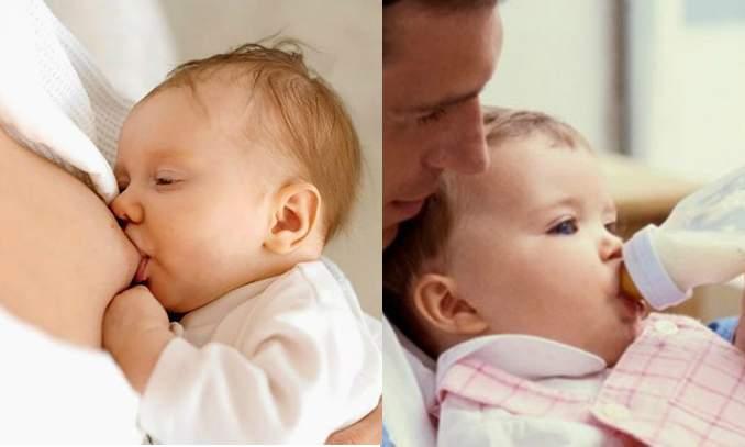 leite materno ou leite artificial