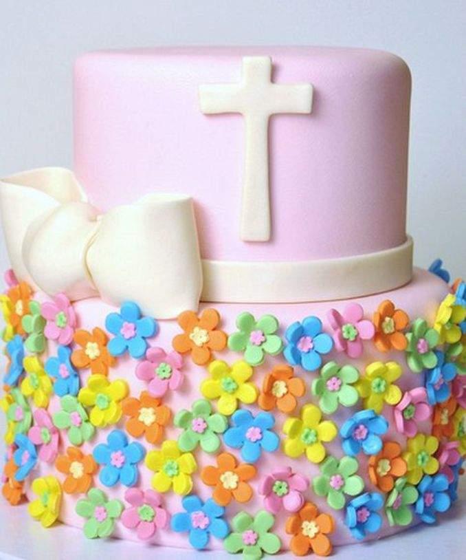 bolo de batizado 60